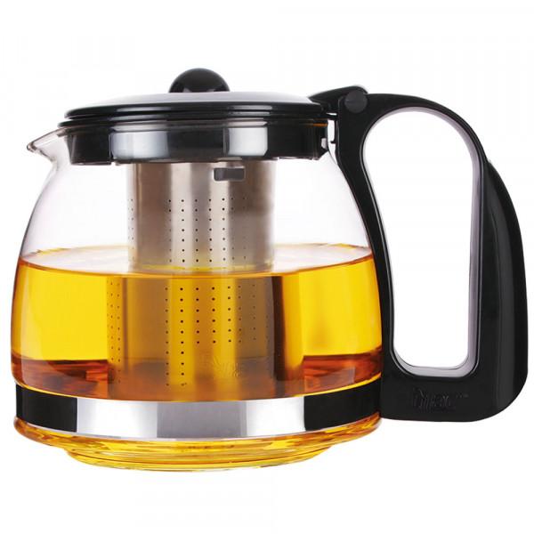 Teekanne 1,2 Liter mit Filtereinsatz aus Edelstahl