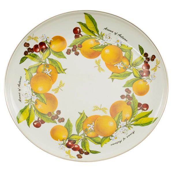 Runde Platte, Fruchtige Fantasie 2,5 L, emailliert