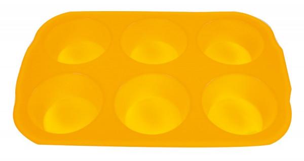 Silikonform Backform silikon 6 Muffins