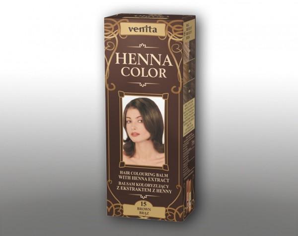 Haarbalsam mit färbendem Effekt auf Henna-Basis, 75 ml, Farbton: Braun