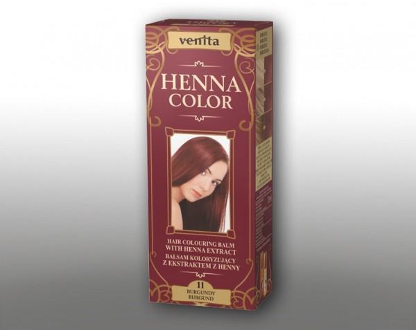 Haarbalsam mit färbendem Effekt auf Henna-Basis, 75 ml, Farbton: Burgund