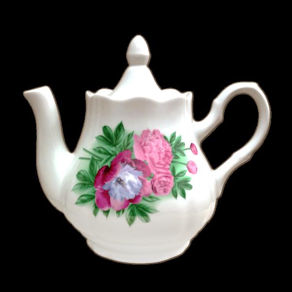 """Teekanne aus Porzellan 800 ml """"Pfingstrosen"""""""