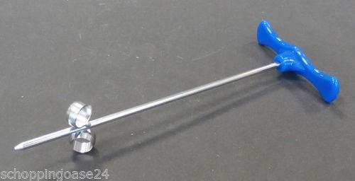 Spiralschneider Deko Extractor mini Garnierer blau