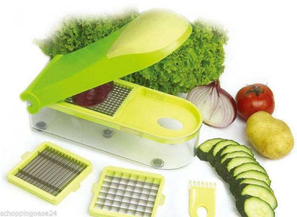 Gemüseschneider Zwiebelschneider Obstschneider Früchteschneider Orange/Grün