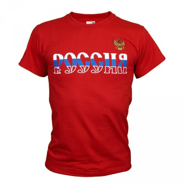 T-Shirt Russland Rot kurzarm