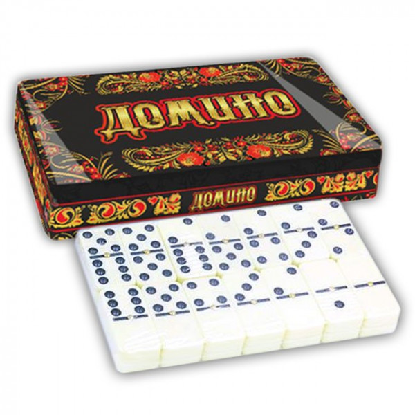 "Brettspiel ""Domino - Hochloma"" in Metalbox"