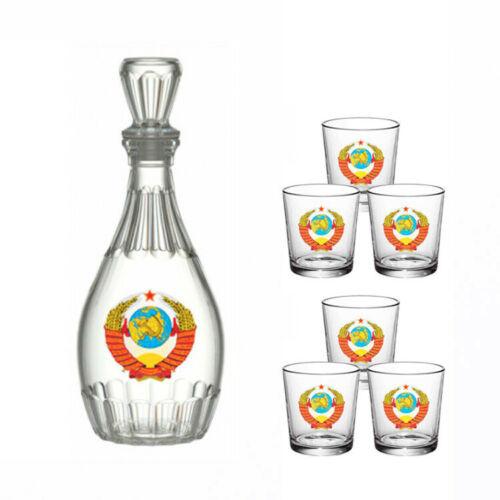 Wodkagläser-Set UdSSR 1 Karaffe + 6 Gläser