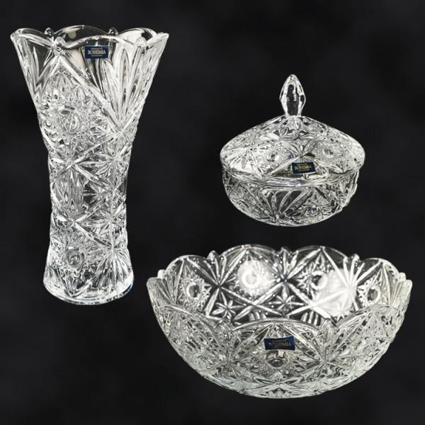 Geschenkset 3-teilig - Vase Miranda