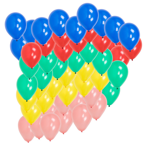 50er Pack Luftballons Bunt Standardfarben (9inch)