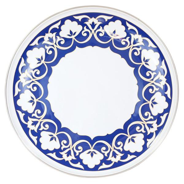Runde Platte ,Usbekische Pahta 2,5 L, emailliert