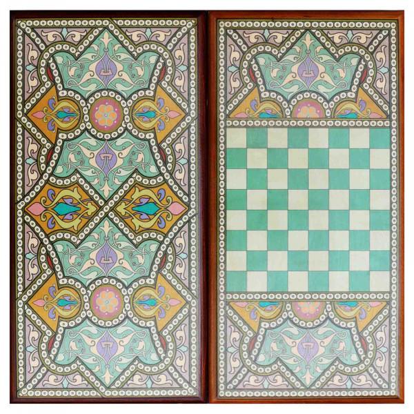 """Backgammonspiel Brettspiel Tischspiel """"Orientalisch"""" 60 x 30 cm"""