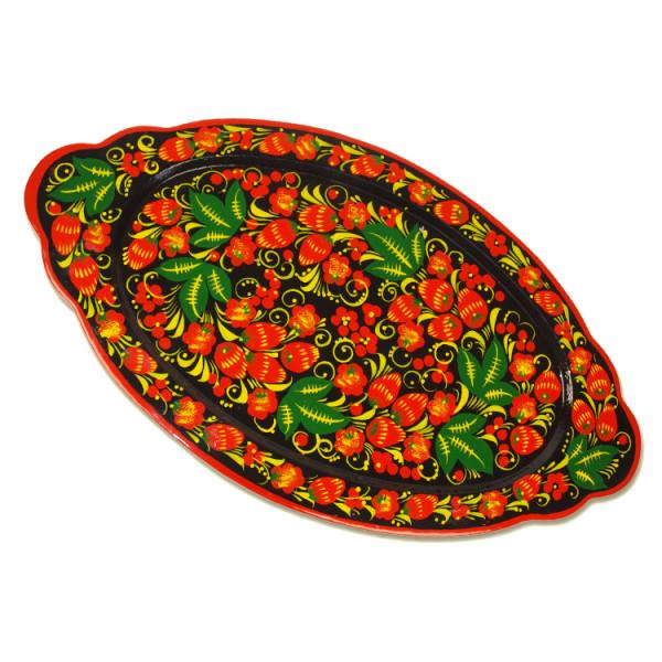 """Tablett Chochloma """"Kerzhenski"""", ca. 46 x 25 cm"""