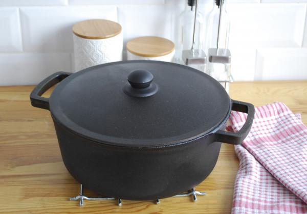 Kochtopf aus Gusseisen, 6 Liter mit Gusseisendeckel