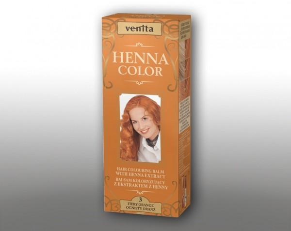 Haarbalsam mit färbendem Effekt auf Henna-Basis, 75 ml, Farbton: feuriges Orange