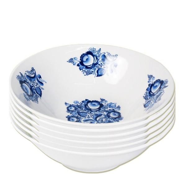 Suppenteller Gzel blau 6 St. Przellan