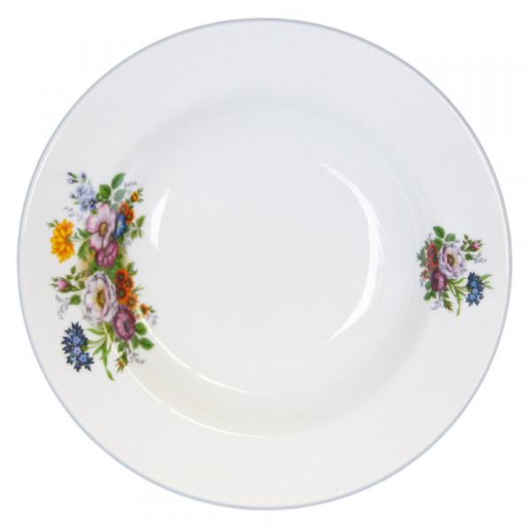 """6-er Set Suppenteller """" Blumenwiese"""" Porzellan Teller"""