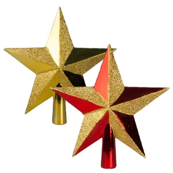 Weihnachtsbaumspitze 'Stern' 19 cm