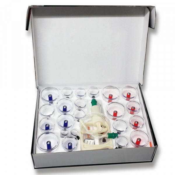 Massage Schröpfen Set mit Vakuumpumpe Gelenkschröpfgläser extra 28