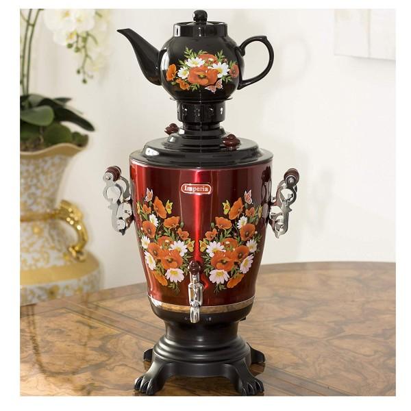 Elektrische Samowar IMPERIA schwarz mit Teekanne