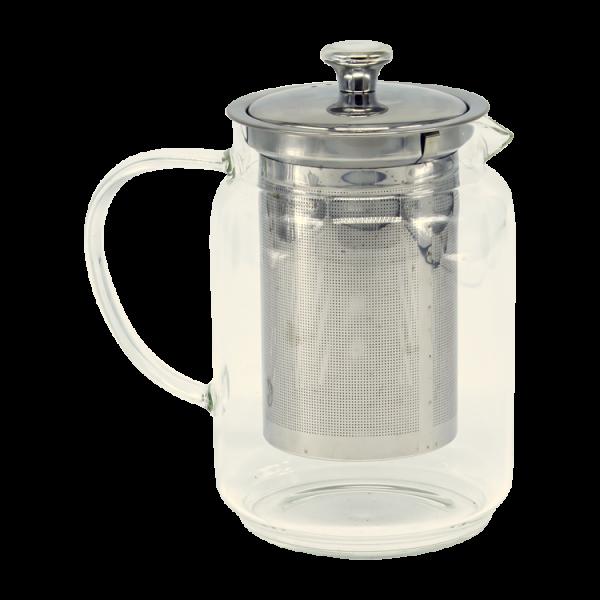 Teekanne aus Glas1 L mit Sieb ausEdelstahl