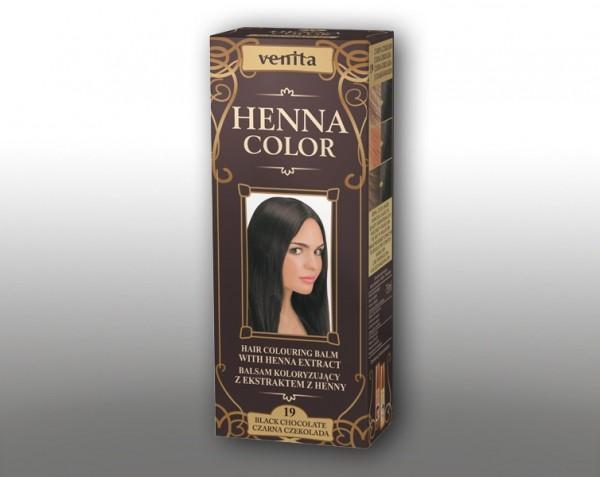 Haarbalsam mit färbendem Effekt auf Henna-Basis, 75 ml, Farbton: Dunkle Schokolade