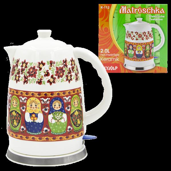 Keramik Wasserkocher Matröschka 2 Liter