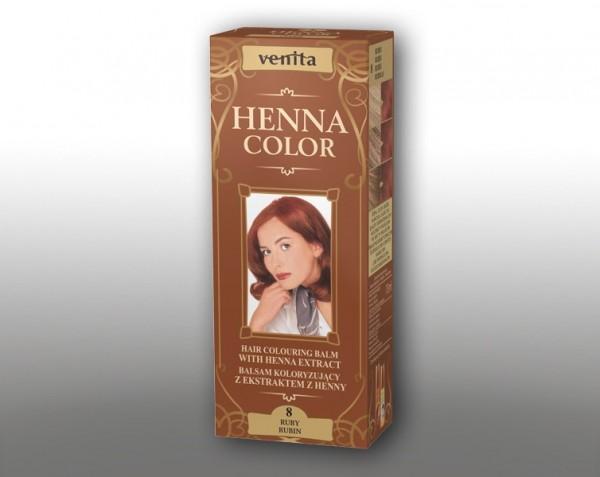 Haarbalsam mit färbendem Effekt auf Henna-Basis, 75 ml, Farbton: Rubin