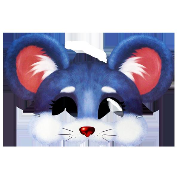 Maske, Maus, 20 x 29 cm, mit Gummiband