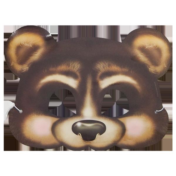 Maske, Bär, 20 x 16 cm, mit Gummiband