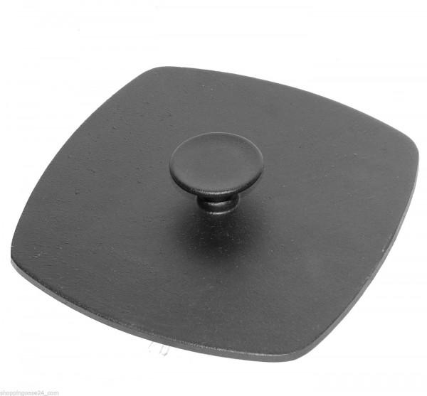 Gusseisen Druckdeckel für Grillpfanne 21 x 21cm