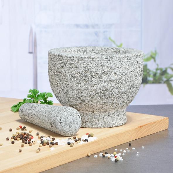 Granitmörser mit Stößel