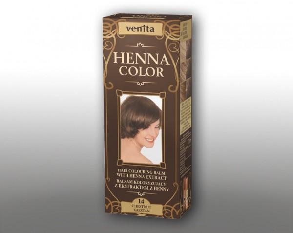 Haarbalsam mit färbendem Effekt auf Henna-Basis, 75 ml, Farbton: Kastanien
