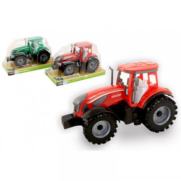 Traktor 22 cm Friktion 2-Farblich sortiert