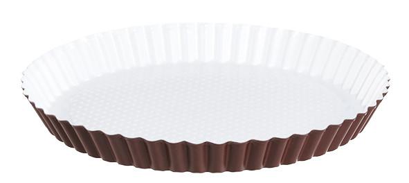 Obstbodenform mit weißer Keramikbeschichtung