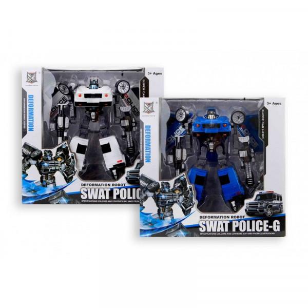 Transformer-Roboter Swat Police-G blau/weiss