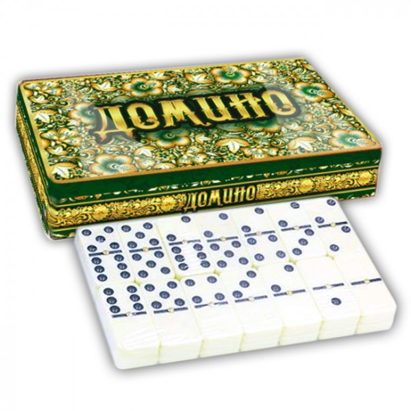 "Brettspiel ""Domino - Smaragd"" in Metalbox"
