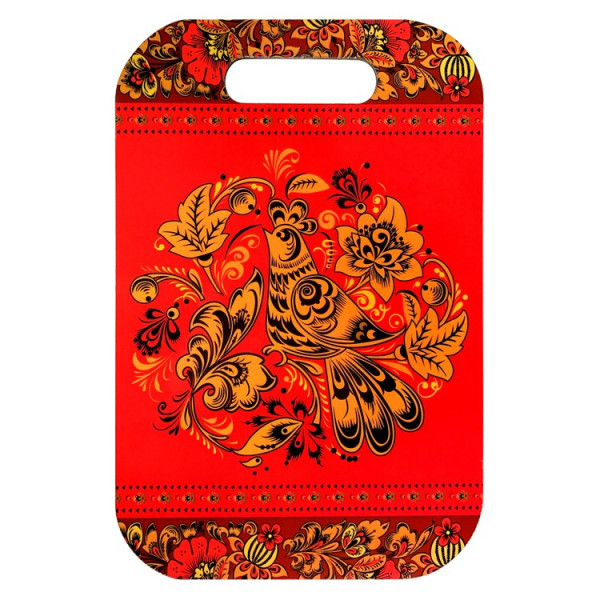 Dekobrett Russische Motive, 20 x30 x 0,6 cm, aus Birke, Farbseite nicht zum Schneiden verwenden