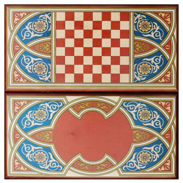 """Backgammonspiel Brettspiel Tischspiel """" Asien"""" 60 x 30 cm"""