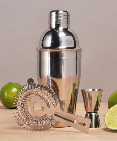Cocktail - Mixer - Set 3tlg.,aus glänzendem Edelstahl