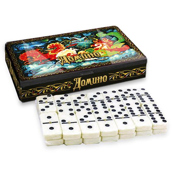 Dominospiel Tischspiel Palech Trojka in Metallbox