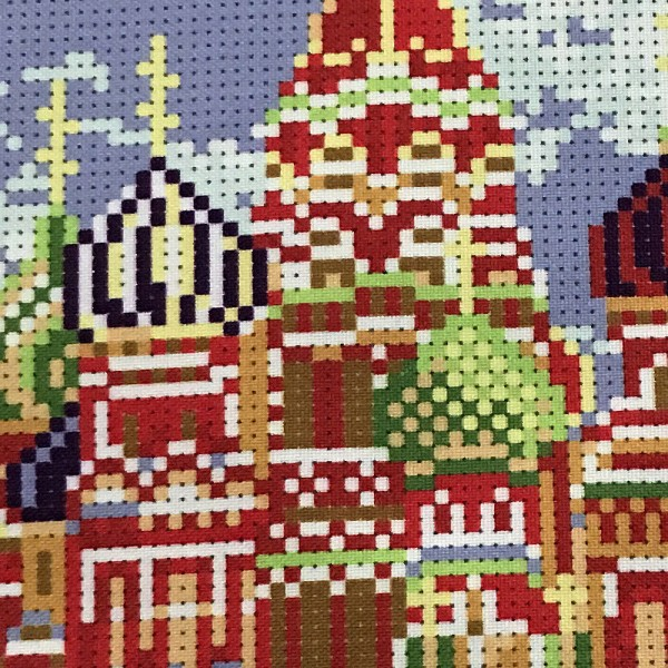 Perlenstickerei Perlenbild Mosaik Stickerei Komplett Set Moskau 24x30cm