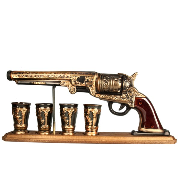Stauf-Set Colt, 5 Teile - Stauf und 4 Becher aus feiner Keramik