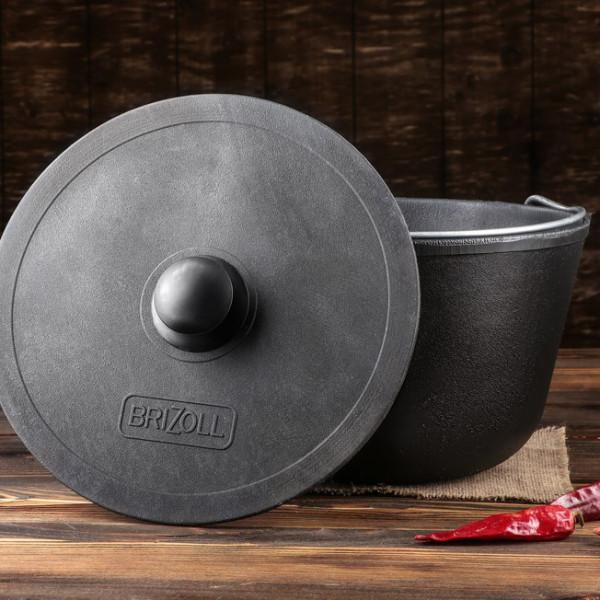 Kochtopf mit Bügel aus Gusseisen 6 Liter HoReCa