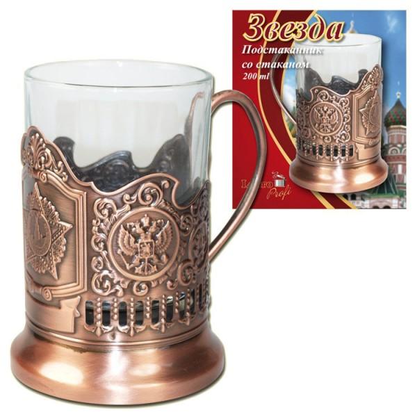 Teeglashlter, Rote Armee Stern Bronze