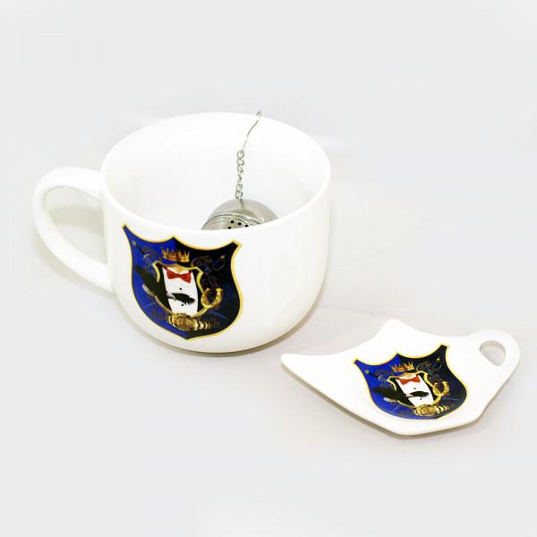 Geschenk Set Tasse mit Sieb Samyj samyj russisch