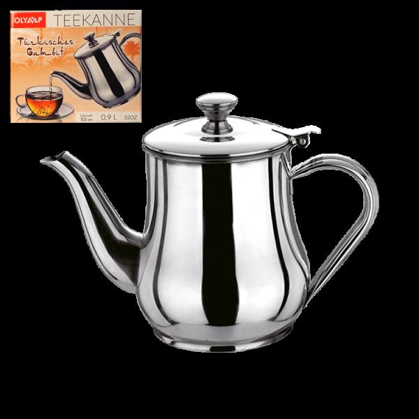 """Teekanne """"Türkisches Gambit"""" 0,9 L, Edelstahl"""