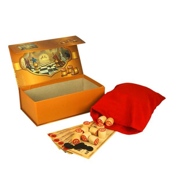 Spiel Russisches Lotto, in einem Karton mit Magnetverschluss, 23 x13 x7,5 cm