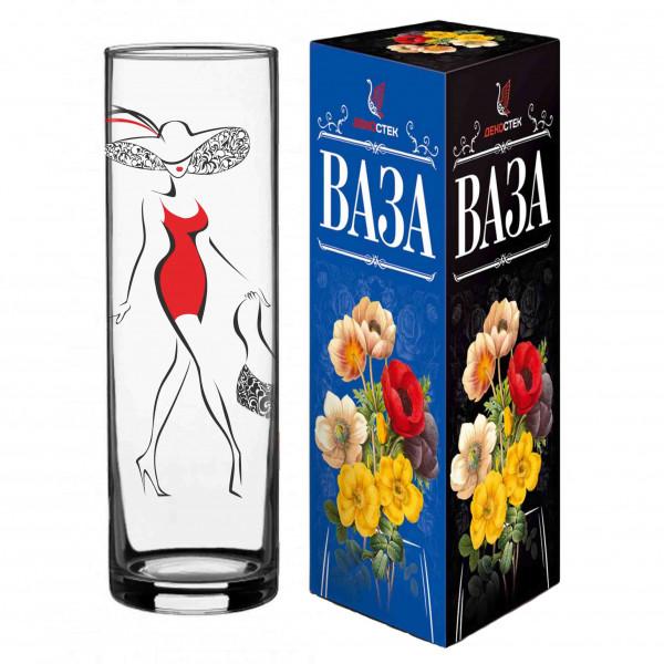 """Moderne Blumenvase aus Glas """"Lady mit Tasche"""", H 26 cm"""