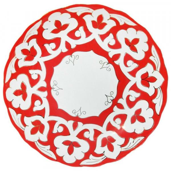 Teller rund Pachta Rot Gold 28 cm Porzellan