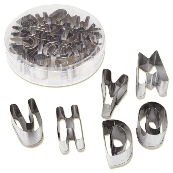 Ausstechformen Set ABC aus Metall